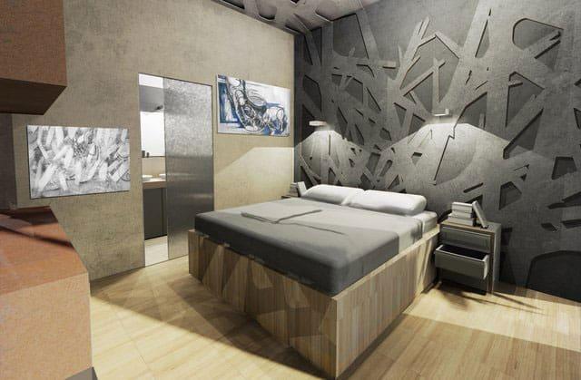 studio-dinterni-camera-da-letto-albergo - CoutanStudio Architetti